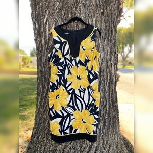 B-Works Yellow Floral Dress